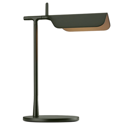 Tab Table LED Lamp 90° Rotatable Head in Matte Blue & Dark Green