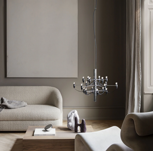 2097 Chandelier - Dimmable Pendant Lights By Gino Sarfatti