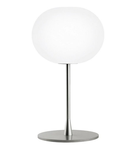 Glo-Ball T - Dimmable Table Lamp in Black or Silver By Jasper Morrison