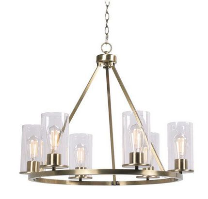 Quinn Brass Chandelier