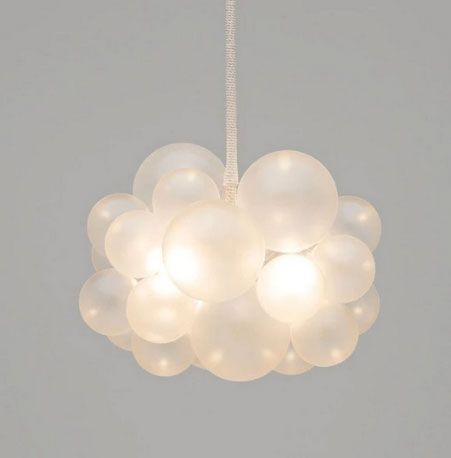 The Light Factory 25 Bubble Chandelier - Frosted