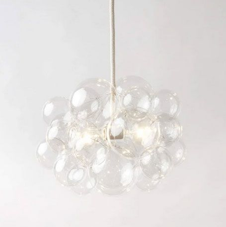 The Light Factory 25 Bubble Chandelier - Clear