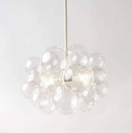 The Light Factory 25 Bubble Chandelier - Clear