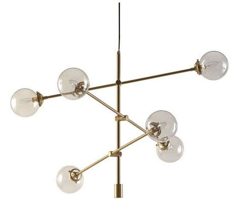 Tempo Antique Gold Ceiling Fixture