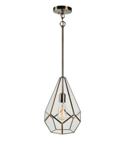 Geo Burnished Metal Pendant