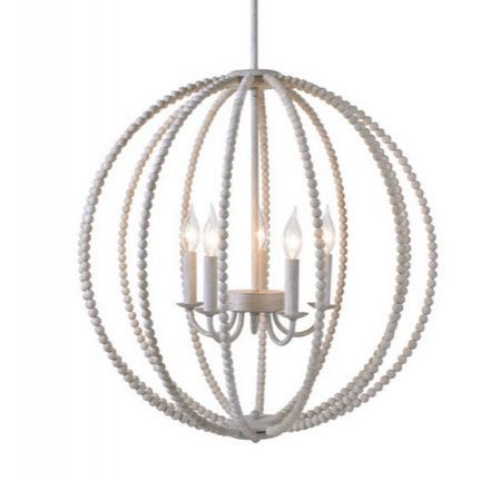 Wimberly Wood Bead Chandelier