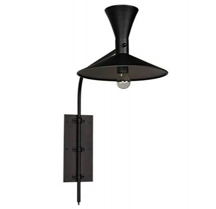 Enzo Swing-Arm Plug-In Sconce